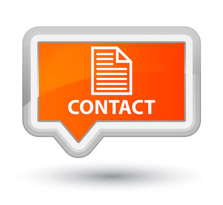 contact page: Contact (page icon) orange banner button