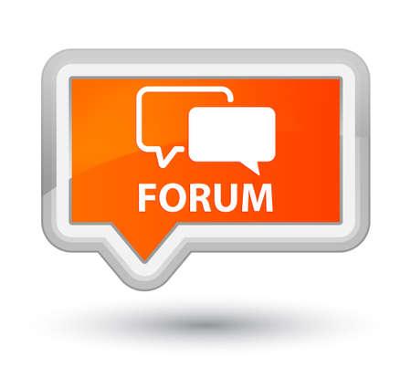 Forum orange banner button