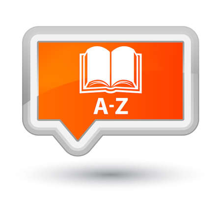 A-Z (book icon) orange banner button