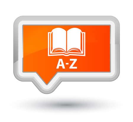 az: A-Z (book icon) orange banner button