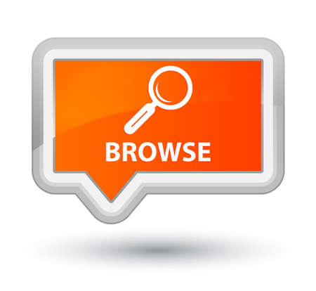 Browse orange banner button Stock Photo