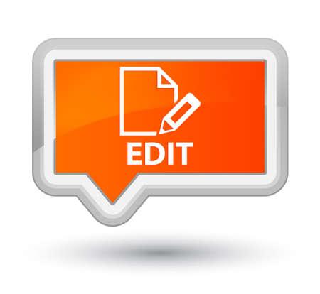 Edit orange banner button Stock Photo