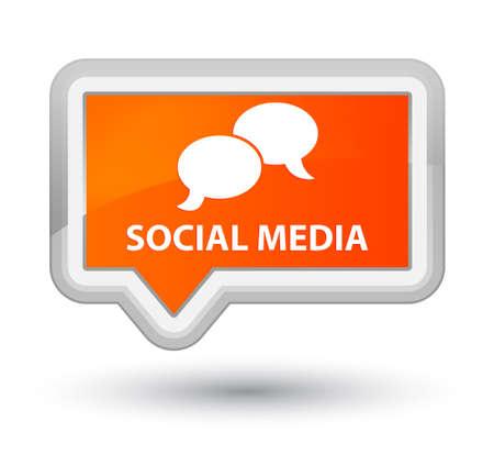 instant message: Social media (chat bubble icon) orange banner button