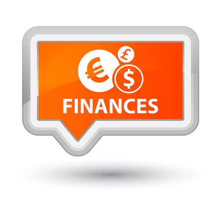 sign orange: Finances (euro sign) orange banner button Stock Photo