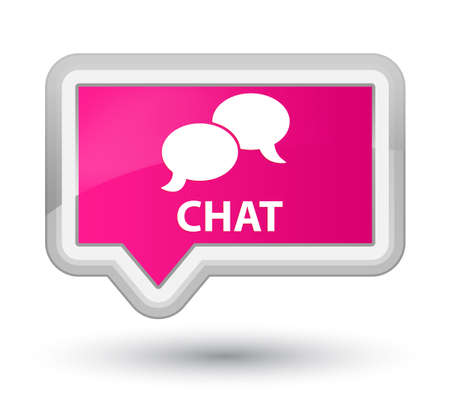 instant message: Chat pink banner button