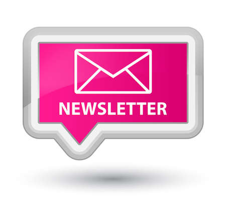 pink banner: Newsletter pink banner button