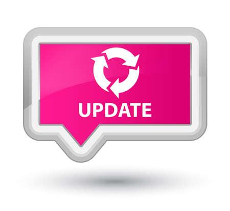refresh icon: Update (refresh icon) pink banner button