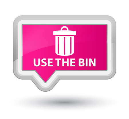 use: Use the bin (trash icon) pink banner button Stock Photo