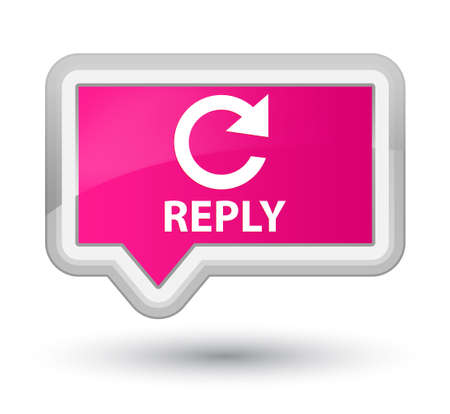 reply: Reply (rotate arrow icon) pink banner button