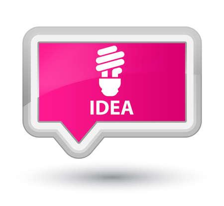 incandescence: Idea (bulb icon) pink banner button Stock Photo