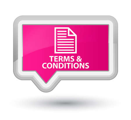 information technology law: Terms and conditions (page icon) pink banner button Stock Photo