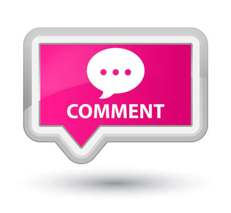 comment: Comment (conversation icon) pink banner button