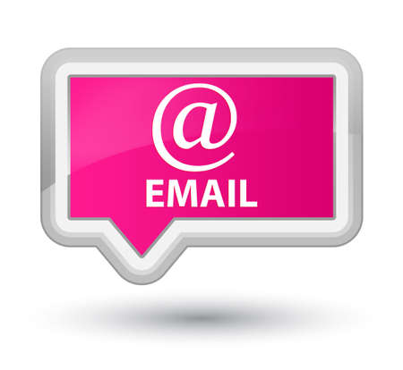 email address: Email (address icon) pink banner button Stock Photo