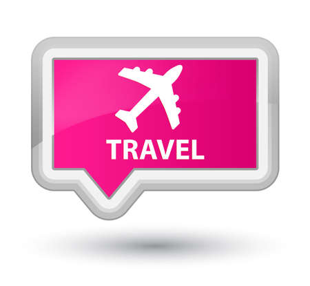 airway: Travel (plane icon) pink banner button