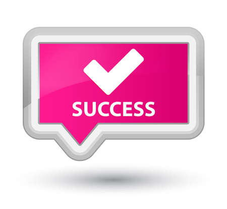 validate: Success (validate icon) pink banner button