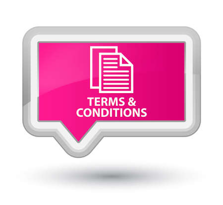conditions: Terms and conditions (pages icon) pink banner button