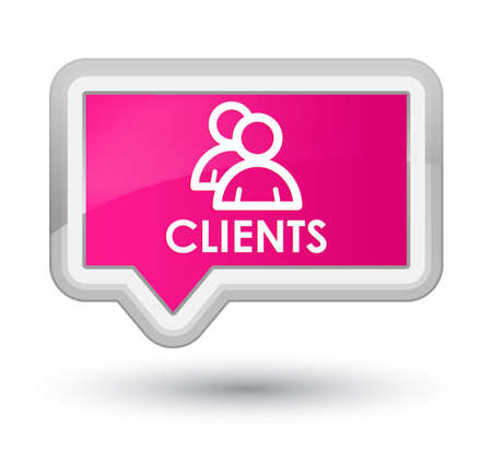 job satisfaction: Clients (group icon) pink banner button
