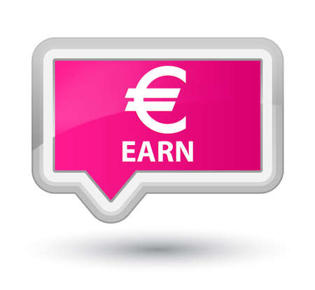 earn: Earn (euro sign) pink banner button