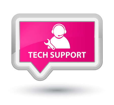 pink banner: Tech support pink banner button