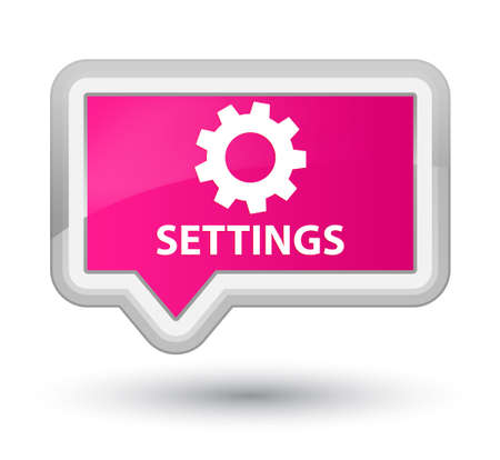 preference: Settings pink banner button