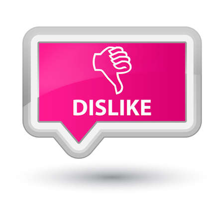 disapprove: Dislike pink banner button