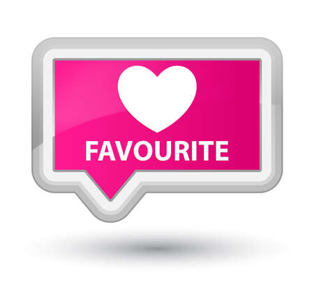 favourite: Favourite (heart icon) pink banner button