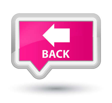pink banner: Back pink banner button Stock Photo