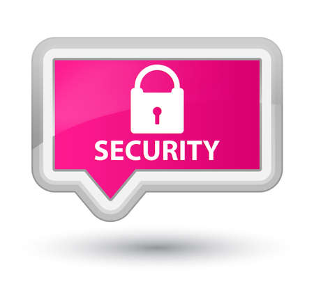 insecure: Security (padlock icon) pink banner button