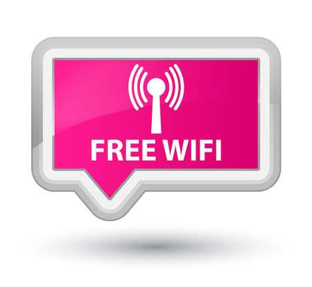 wlan: Free wifi (wlan network) pink banner button