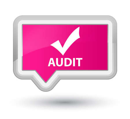 validate: Audit (validate icon) pink banner button
