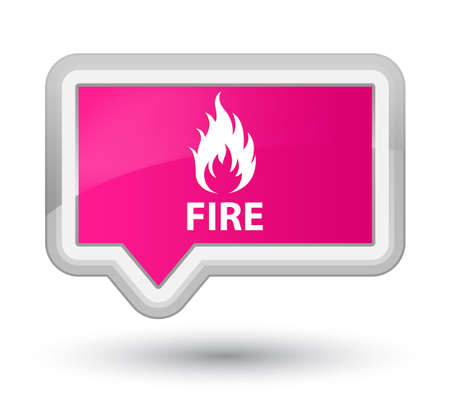 ominous: Fire pink banner button Stock Photo