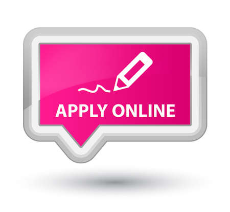 apply: Apply online (edit pen icon) pink banner button