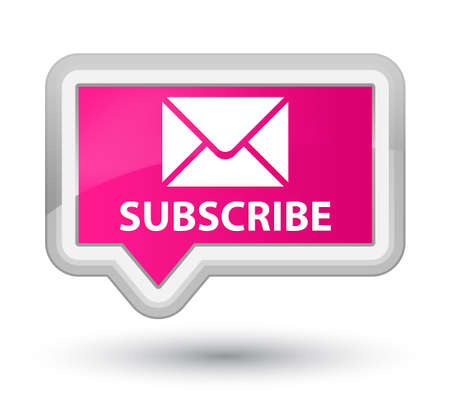 pink banner: Subscribe (email icon) pink banner button
