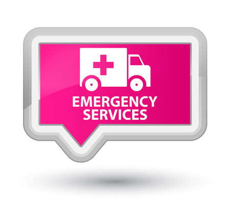 pink banner: Emergency services pink banner button