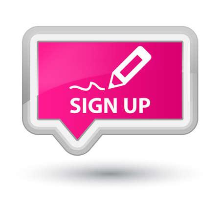 registry: Sign up pink banner button
