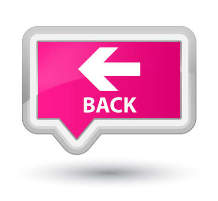 move backward: Back pink banner button Stock Photo