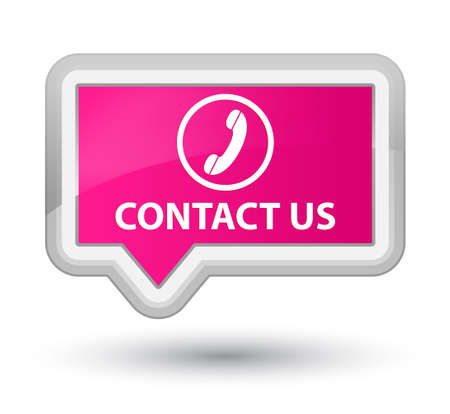 contact us phone: Contact us (phone icon round border) pink banner button