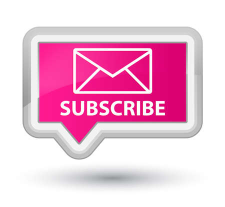 subscribe: Subscribe (email icon) pink banner button