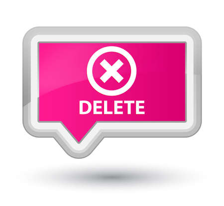 deny: Delete pink banner button
