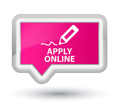 Apply Online (edit Pen Icon) Pink Banner Button Stock Photo ...