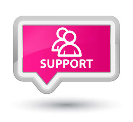 support group: Support (group icon) pink banner button