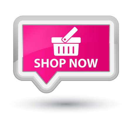 pink banner: Shop now pink banner button