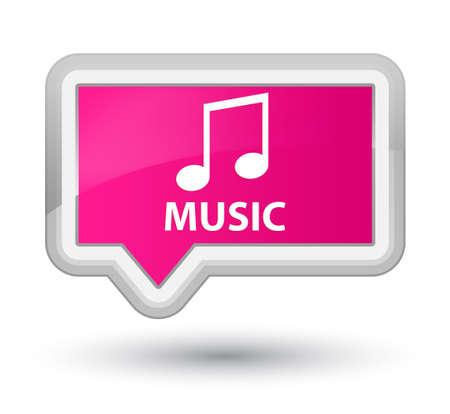 tune: Music (tune icon) pink banner button
