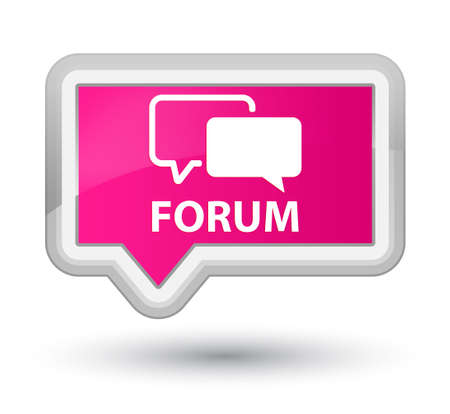 pink banner: Forum pink banner button Stock Photo
