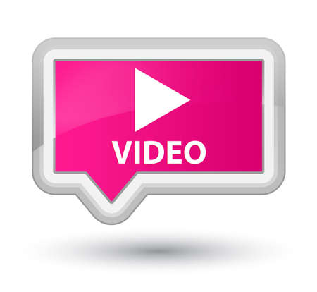 pink banner: Video pink banner button