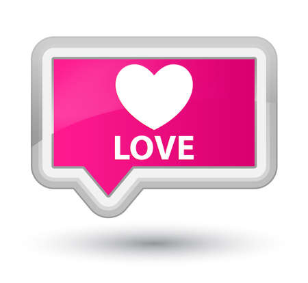pink banner: Love pink banner button Stock Photo