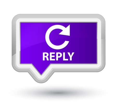 reply: Reply (rotate arrow icon) purple banner button