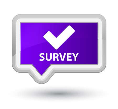 validate: Survey (validate icon) purple banner button