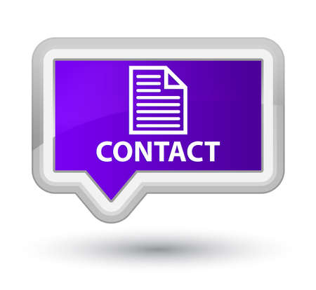 contact page: Contact (page icon) purple banner button