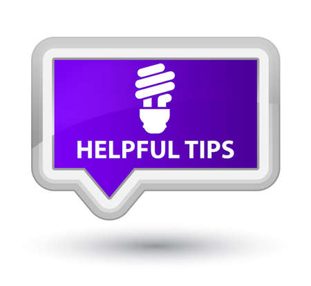 helpful: Helpful tips (bulb icon) purple banner button